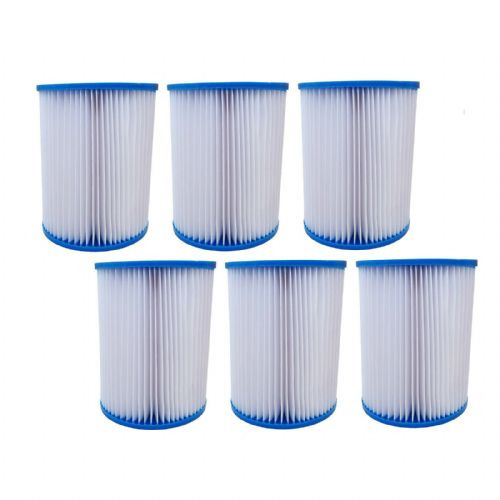 Filter Cartridges X6 For Bestway Lay-Z Swimming Pools, Spas, Hot Tubs, Jacuzzi